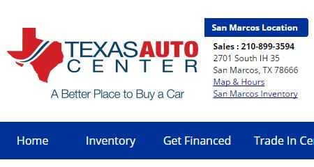 Texas Auto Center >> Used Car Dealership In San Marcos Texas Auto Center